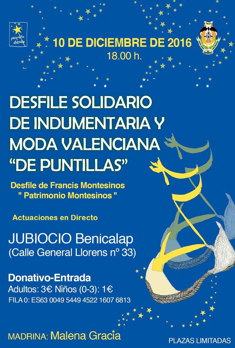 Desfile Solidario de Indumentaria y Moda Valenciana De Puntillas