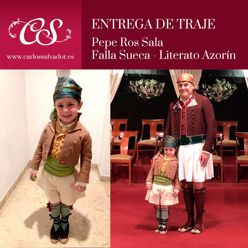 Entrega de traje a Pepe Ros Sala